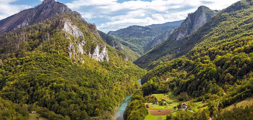 mountains and river canyon tara montenegro adventure