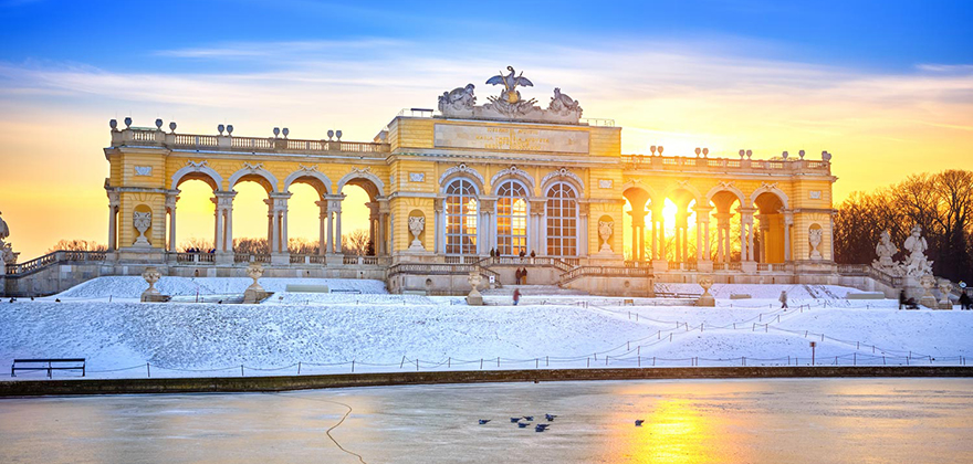 gloriette wien winter