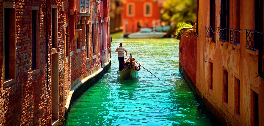 veneciya lodka voda chelovek